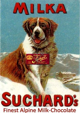 Suchard Chocolate Milka St. Bernard Dog